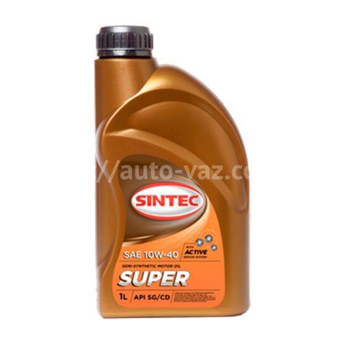 Масло ДВС 10W-40 Sintec Super SG/CD 1л полусинтетика
