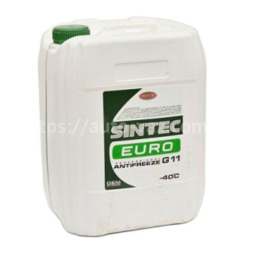 Антифриз Sintec EURO G11 зелёный 10л