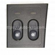 Блок управления подогревом сидений ВАЗ-2170 (2 кнопки)
