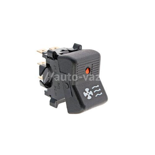 Клавиша включения вентилятора отопителя ВАЗ-2101-2107 (с лампочкой индикатором) АО Автоарматура