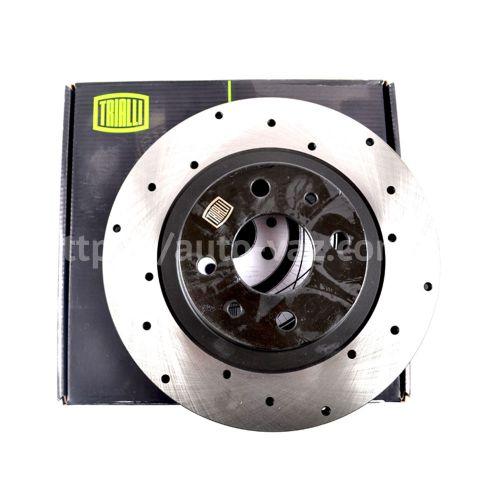 Диски тормозные ВАЗ-2112 Trialli R14 вентилируемые с перфорацией