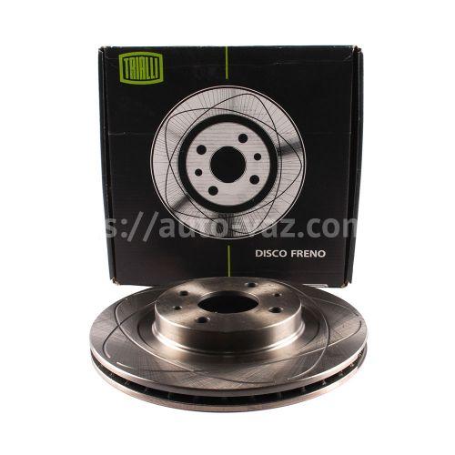 Диски тормозные ВАЗ-2112 Trialli R14 вентилируемые с выточкой