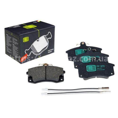 Колодка тормозная передние ВАЗ-2110 с датчиком (PF 970) Trialli (к-т)