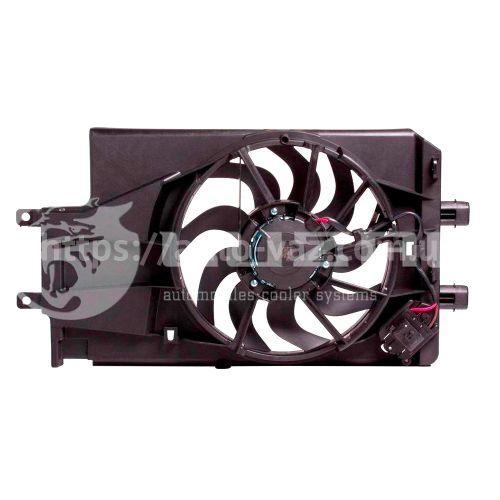 Вентилятор охлаждения радиатора ВАЗ-2190 (с кожухом)(15-) (тип KDAC) (LFK 0194) Лузар