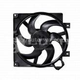 Электровентилятор охлаждения радиатора ВАЗ-1118 в сборе с кожухом без резист (LFK 01181) Luzar