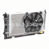 Радиатор охлаждения ВАЗ-2170 (+рад. кондиц+вентиляторы)(А/С Panasonic)(LRK 01272) Лузар