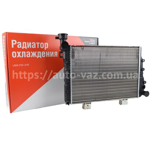 Радиатор охлаждения алюминиевый ВАЗ-2107 (под датчик включения вентилятора) ДААЗ